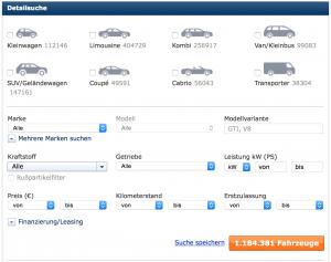 Duitse autosites autoscout